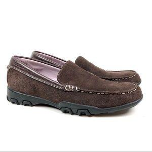 Cole Haan Loafer Waterproof Brown Suede Size 7.5AA